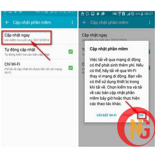 Cập nhật phần mềm mới cho Realme 5s